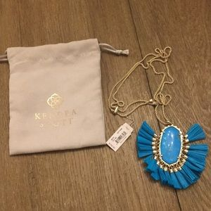 NWT Kendra Scott Gold Turquoise Betsy Necklace